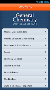 General Chemistry Course App- screenshot thumbnail