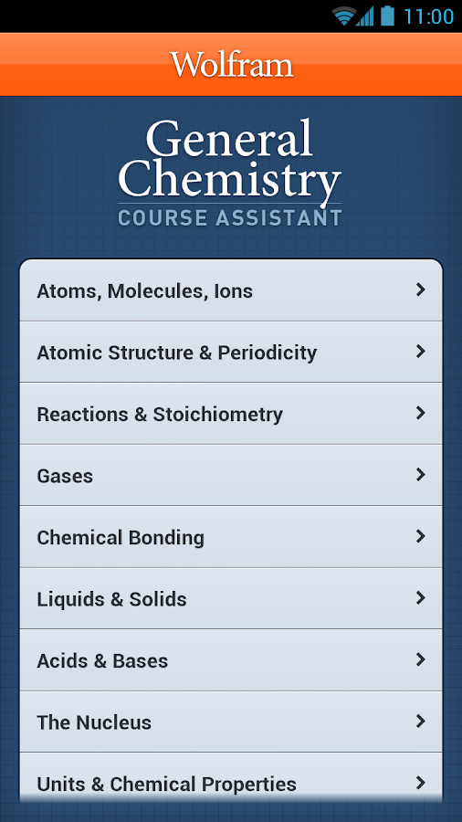 General Chemistry Course App- screenshot