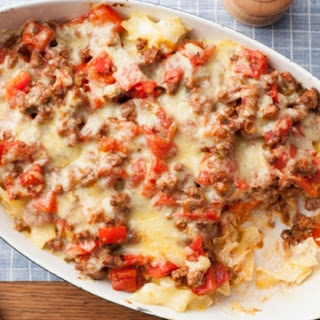 Beef and Cheddar Casserole.