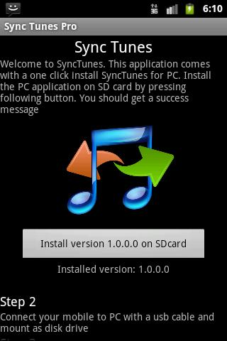 Synctunes usb free for iTunes- screenshot