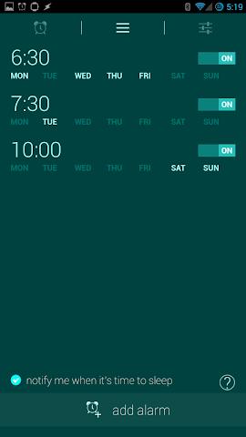 android Glimmer (luminous alarm clock) Screenshot 6