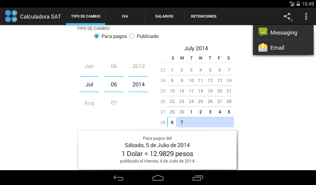 Calculadora SAT- screenshot