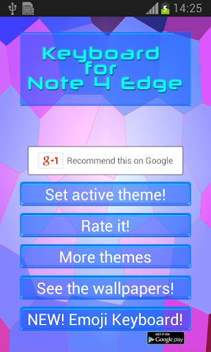 Keyboard for Note 4 Edge