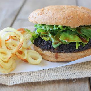 Portobello Black Rice Burgers with Miso Balsamic Arugula