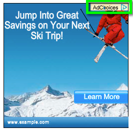 Google ad with AdChoices logo