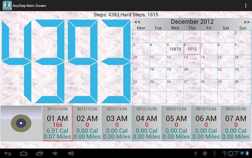 AnyStep Step Counter GPS Log