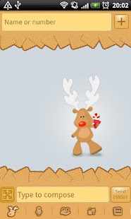 GO SMS Pro Rudolph Theme - screenshot thumbnail