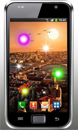 City Fireflies live wallpaper