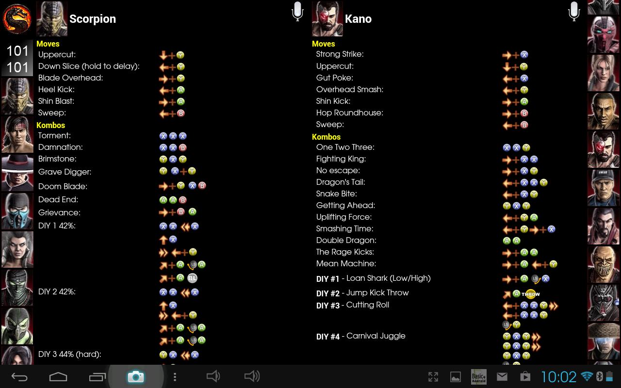 Mortal kombat komplete edition moves ps3