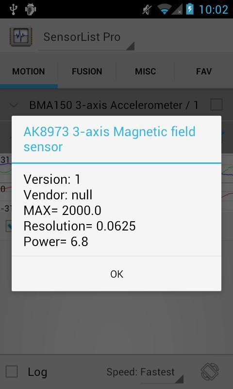 SensorList Pro- screenshot