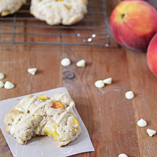 Peach and Brown Sugar Scones with White Chocolate