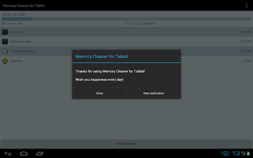 Memory Cleaner for Tablet - screenshot thumbnail