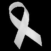 White Awareness Ribbon Clock