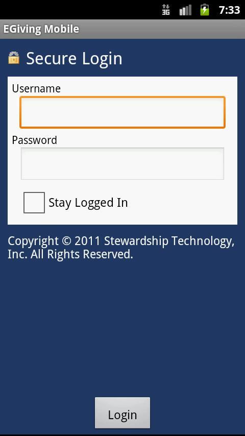 Egiving Mobile- screenshot