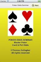 Screenshot of Poker Odds Seminar