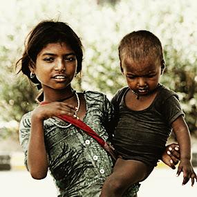 Child Poverty by HeartMonster Ankush - City,  Street & Park  Street Scenes ( cuteness, poverty, emotions, children, hope )