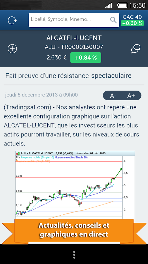 TradingSat Bourse- screenshot