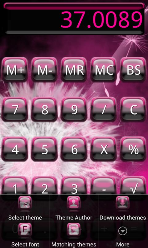 Pink Galaxy Calculator Theme - screenshot