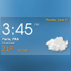 Digital clock weather theme 1 icon