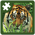Wild animals puzzle: Jigsaw icon