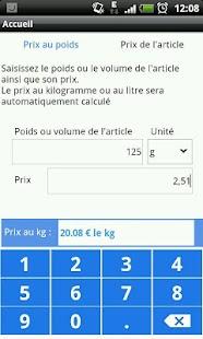 calculer le prix au kilo