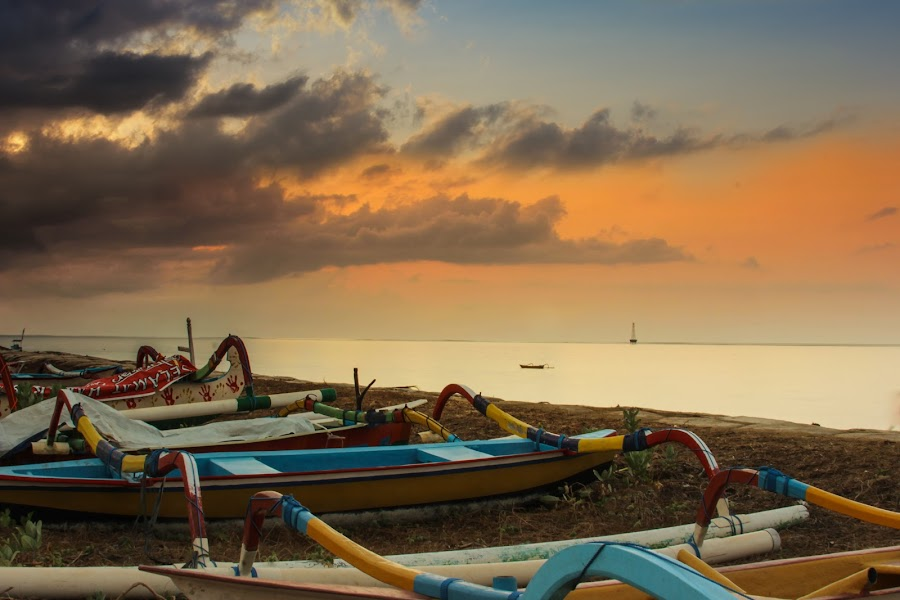 Greeting from Bali Island by Ade Irgha - Landscapes Beaches ( sky, #adeirgha_photoworkz, beach, boat, #water )