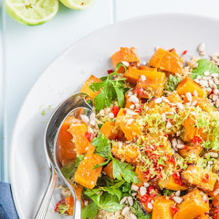 Lime, Chili and Roasted Pumpkin Quinoa Salad