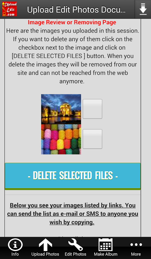 Upload Edit Photos & Documents- screenshot