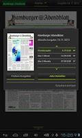 Screenshot of HAMBURGER ABENDBLATT ePaper