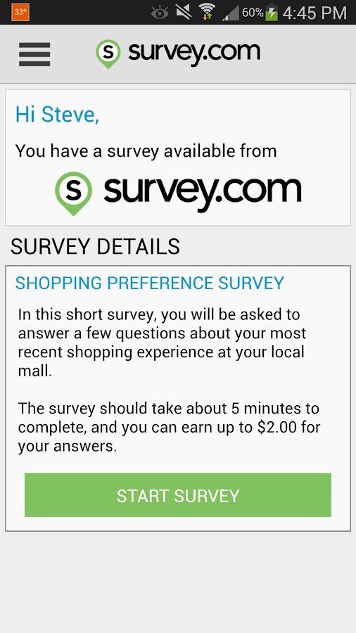 Survey.com Mobile - screenshot