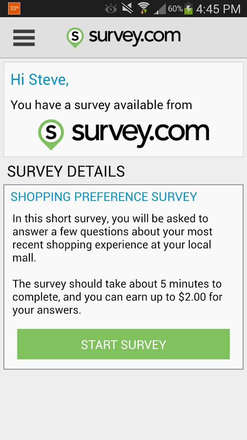 Survey.com Mobile - screenshot