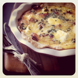 Cream Cheese, Caramelized Onion and Bacon Quiche Recipe