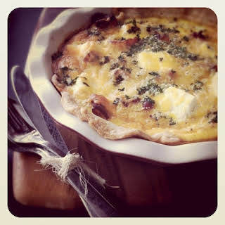 Cream Cheese, Caramelized Onion and Bacon Quiche.