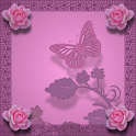 Roses and Butterfly Lavender