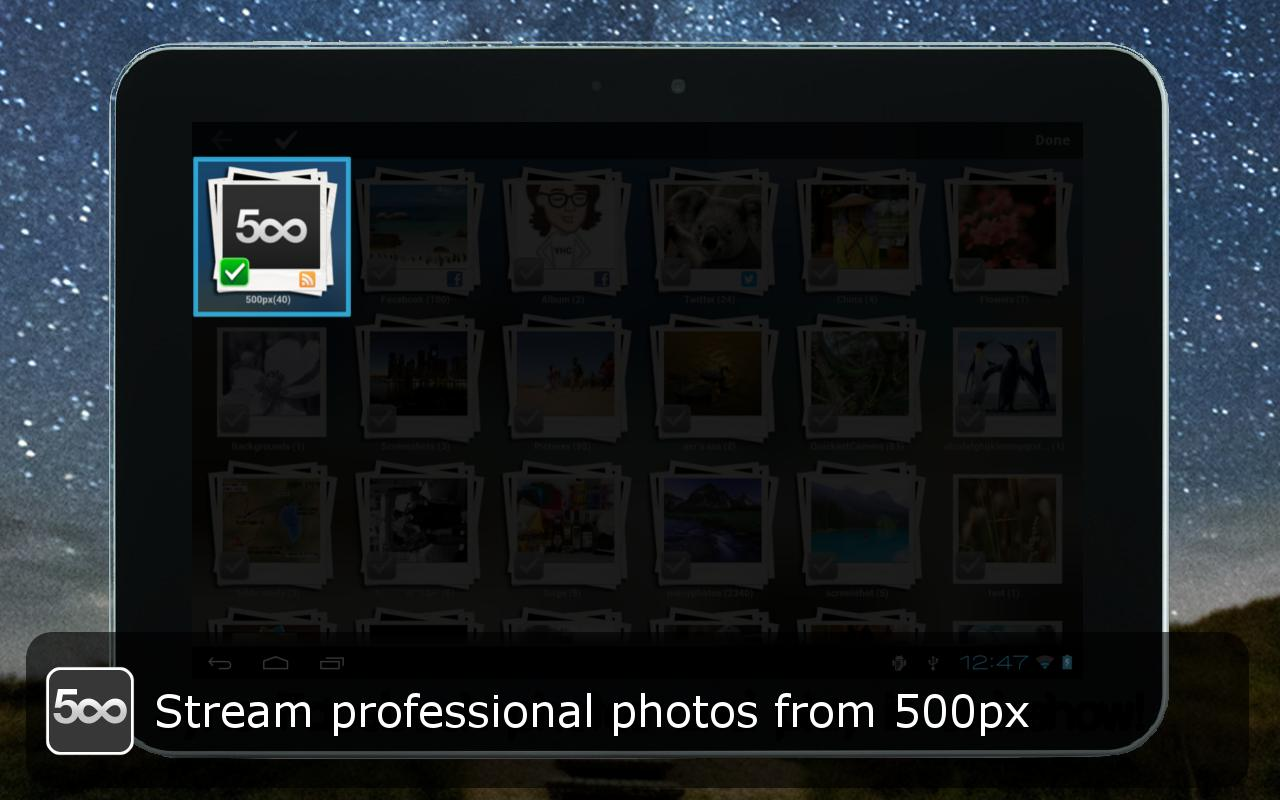 Social Frame HD (Slideshow) - screenshot