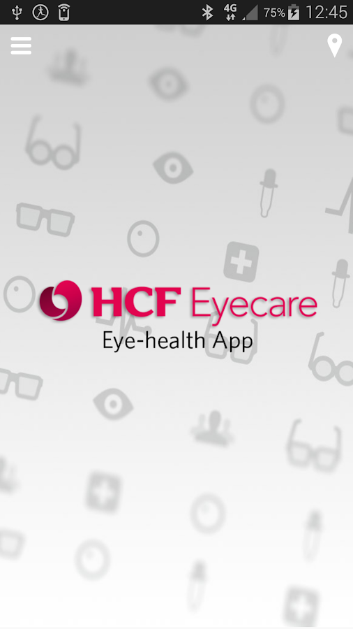 HCF Eyecare App- screenshot