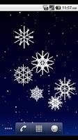 Screenshot of Tilt Snow Live Wallpaper