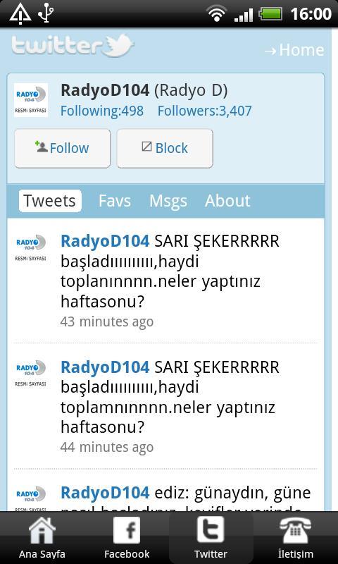 Radyo D- screenshot