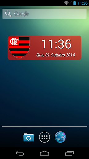 Digital Clock Flamengo
