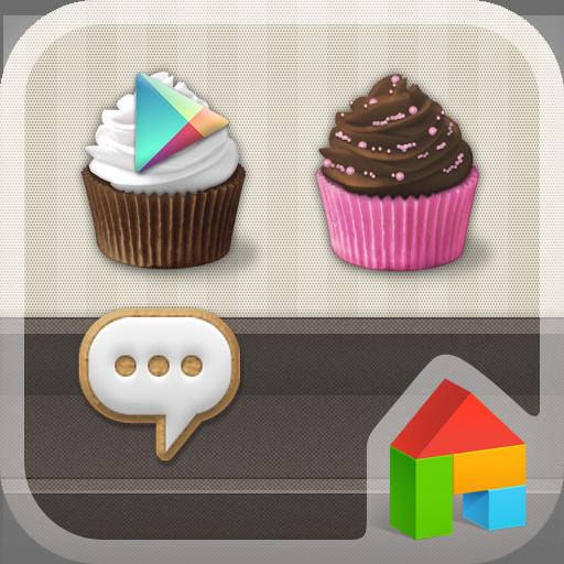 Sweet Cupcake Dodol Theme LOGO-APP點子