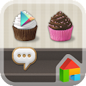 Sweet Cupcake Dodol Theme icon