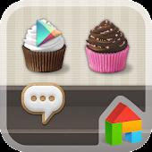 Sweet Cupcake Dodol Theme