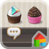Sweet Cupcake Dodol Theme 4.3