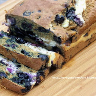 Banana-Blueberry Bread with Surprise.