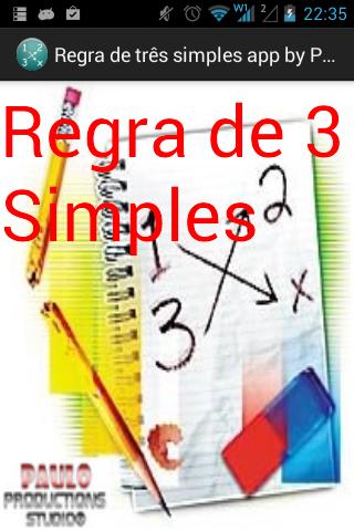 Regra de Três Simples App