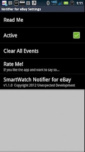 SmartWatch Notifier for eBay screenshot 1