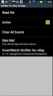 SmartWatch Notifier for eBay - screenshot thumbnail