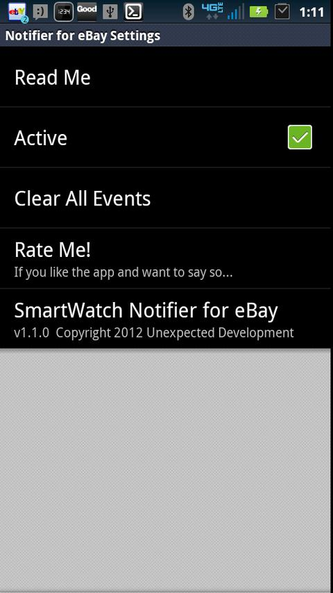 SmartWatch Notifier for eBay- screenshot