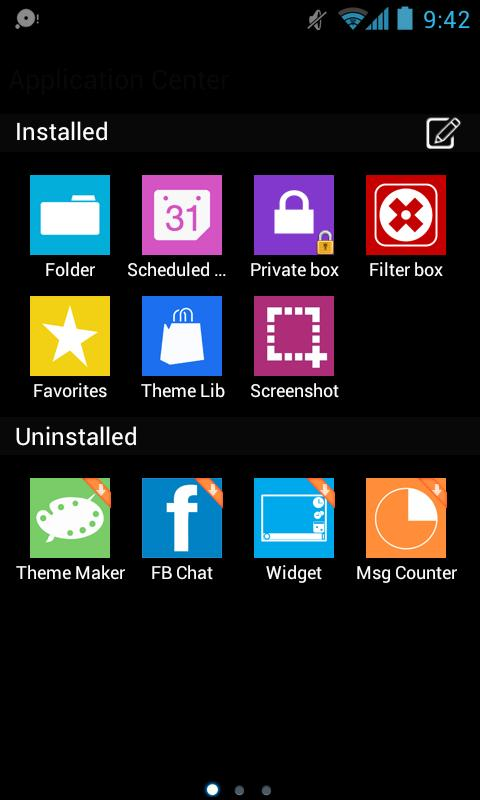 GOSMS WP7 Blue Theme Free - screenshot