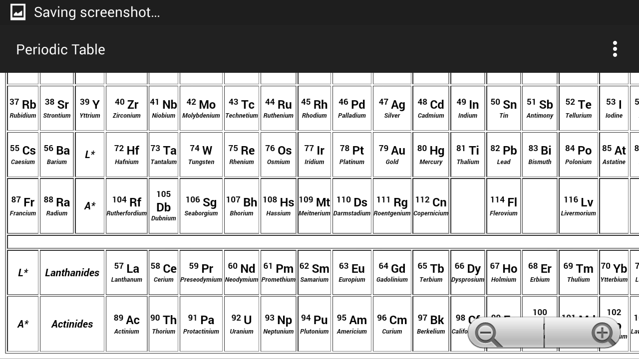 Periodic table of the elements android apps on google play periodic table of the elements screenshot gamestrikefo Choice Image